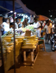 Trading in vegetables on Robb Street