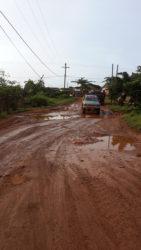 The road to the Port Kaituma Airstrip