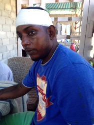 Injured Kishan Singh