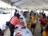 A section of the Health Fair which was hosted by the Ministry of Public Health at D'Urban Park on Friday.