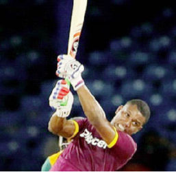 Opener Evin Lewis…top-scored with 75 for Dhaka Dynamites.