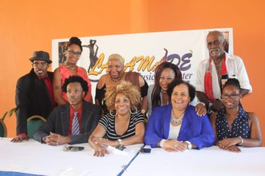 Seated from left are Launce Northe, Linda Northe, Desiree Edghill and Adaeze Lumumba. Standing from left, Oral Welshman, Simone Bazil, Donna Powell, Charmaine Blackman and Shaft.