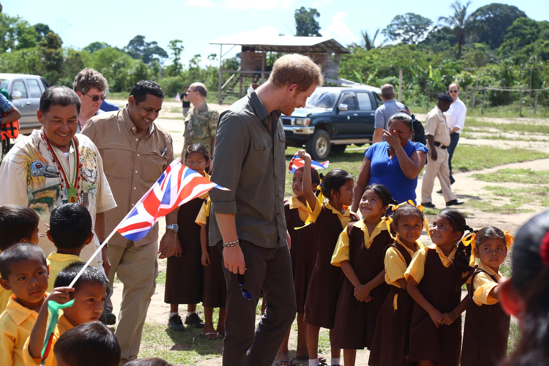 Prince Harry Visits Gu...