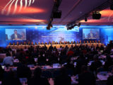 IAAF President Sebastian Coe addressing the Special Congress in Monoco (Giancarlo Colombo/IAAF)( see story on page 30)