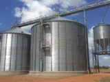 Silos at the rice mill.