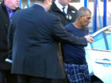 Prem Rampersaud as he was being placed in a police car. (ABC7 Eyewitness News photo)