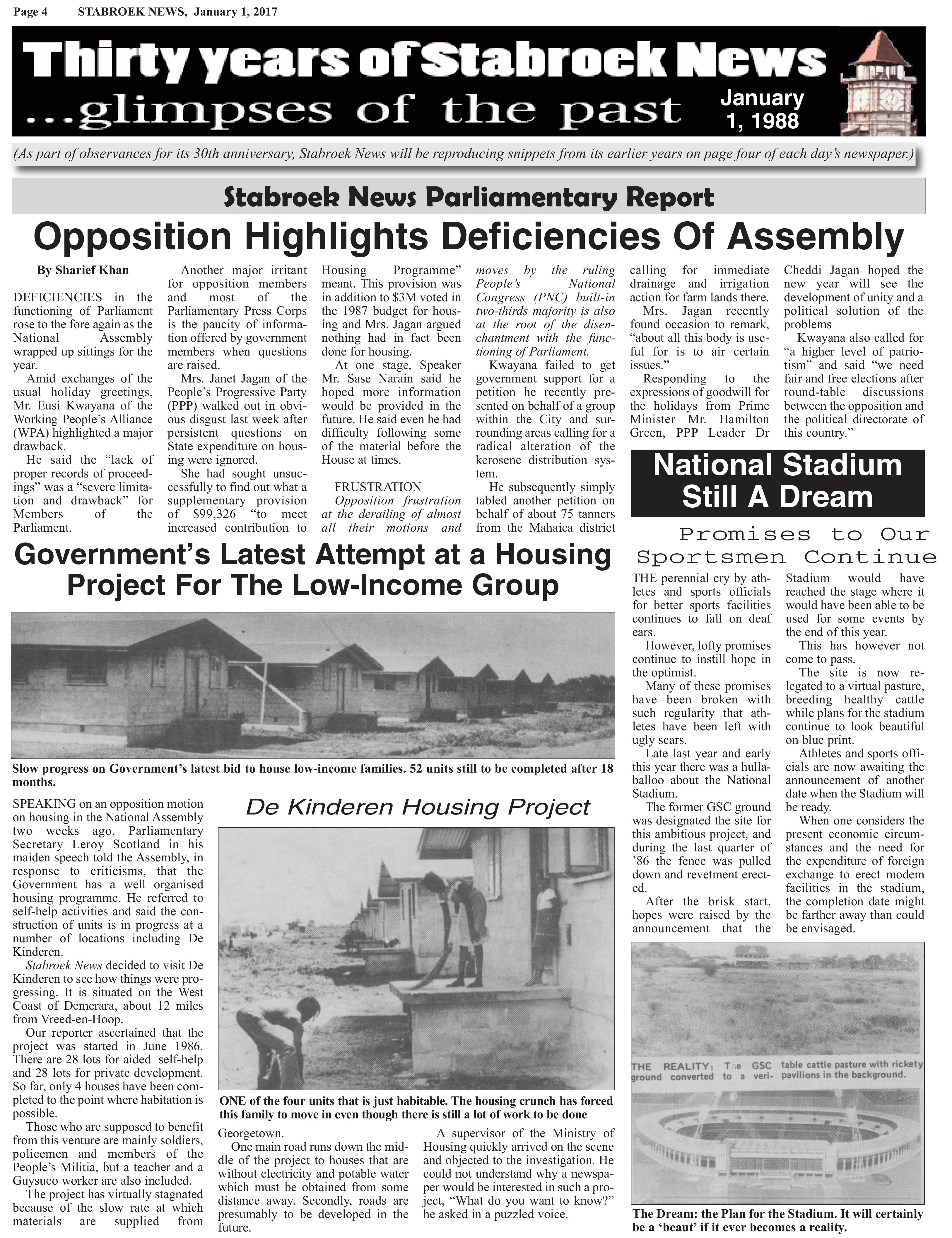 First published January 1, 1988 - Stabroek News