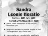 Sandra Horatio
