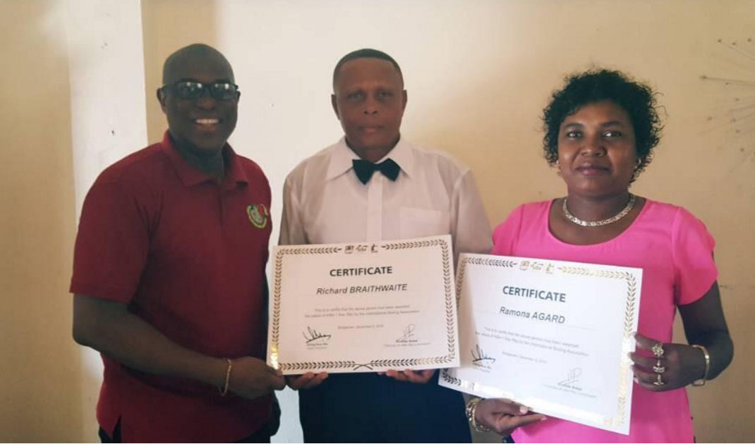 Agard, Braithwaite now AIBA certified referee/judges – Stabroek News