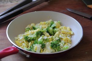 Fried Eggs with Broccoli Photo by Cynthia Nelson