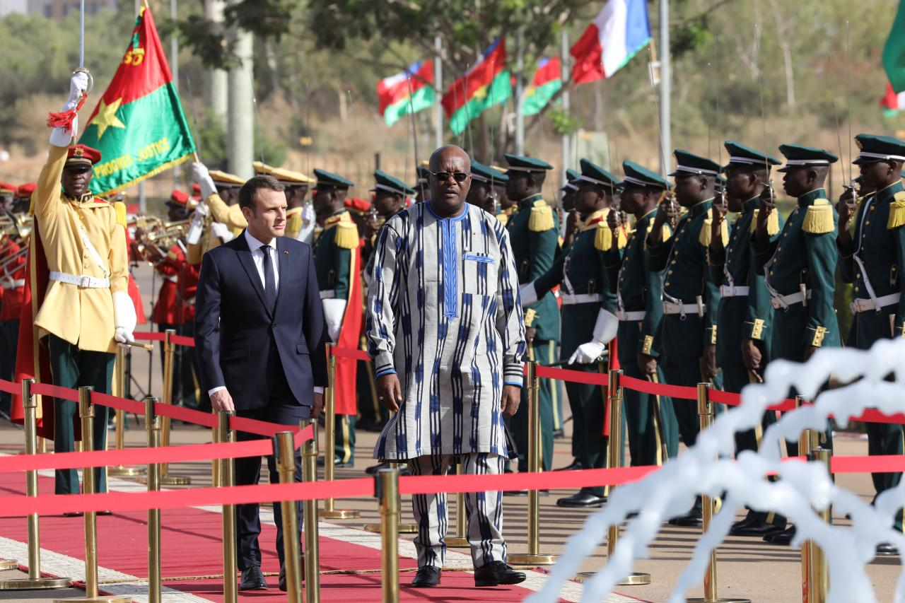 Grenade hurts several before French president's Africa visit