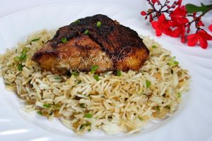 Roast Chicken with Green Onion Dirty Rice (Photo by Cynthia Nelson)