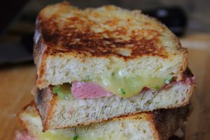 Ham & Cheese Sandwich with French Toast Twist Photo by Cynthia Nelson