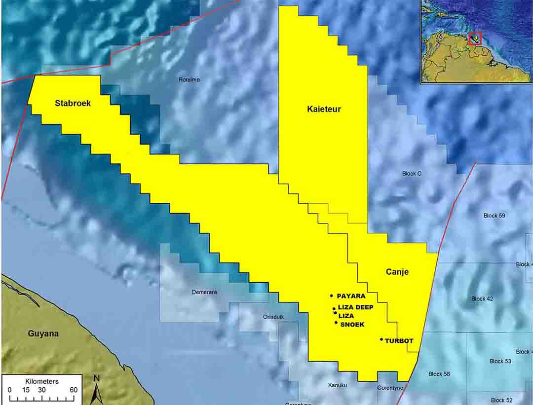 Exxons New Well Site Looks Promising Sources Stabroek News - Where is guyana