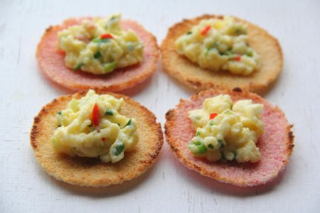 Cassava-Coconut Bread with Scrambled Eggs Photo by Cynthia Nelson