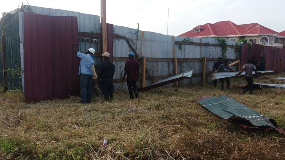 GWI dismantles part of fence encroaching on Lamaha Canal rves