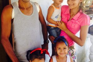 Roberto Ramnarine and his family