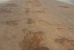The condition of the Baramita Airstrip