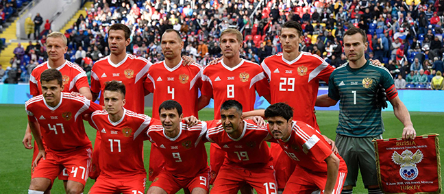 Russia's men's team will be hoping to turn the home  advantage into a winning start when they oppose Saudi Arabia today in the opening fixture of the 2018 FIFA World Cup competition. (Photo courtesy of FIFA.com)