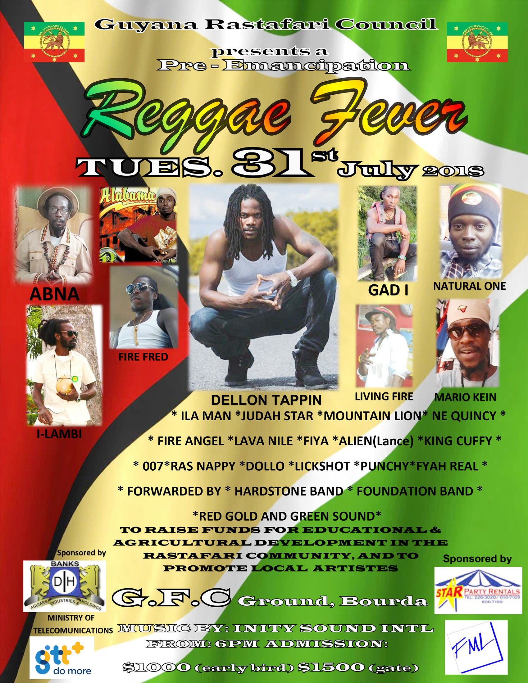 Reggae fever takes over GFC on July 31 - Stabroek News