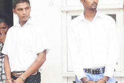 From left are Mahesh Lackhan and Parshram Guman