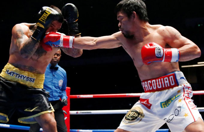 Sink Floyd! Pacquiao wants second crack at Mayweather