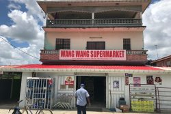The Wang Wang Supermarket in Belle West, Canal #2, West Bank Demerara where the robbery took place