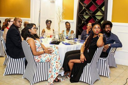 Some of the attendees at the Guyana Press Association's annual Dinner and Award ceremony