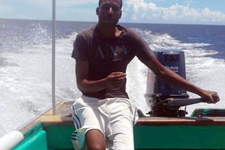 Cedros fisherman Marvin Farria who was shot at by Venezuelan Guardia Nacional just over one week ago.
