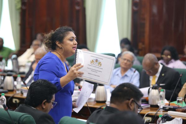 Opposition Parliamentarian Priya Manickchand argued that the document she holds, a curated copy of Budget proposals from the 16 Constitutional Agencies, was not enough to inform the debate on their allocations.