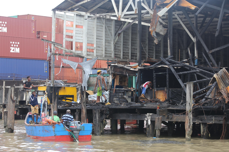 Stalls were set on fire at Stabroek wharf – Stabroek News