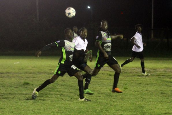 Mahaica Determinators defeated Santos 1-0 to clinch the third position in the T­­urbo Knockout Football Championship yesterday at the Ministry of Education ground, Carifesta Avenue. Eion Abel recorded the lone goal in the matchup, etching his name on the scorer's sheet in the 45th minute. Up to press time, the grand finale between Northern Rangers and GFC was being contested.  Action between Mahaica and Santos at the Ministry of Education ground in the Turbo Knockout Football Championship (Orlando Charles photo)