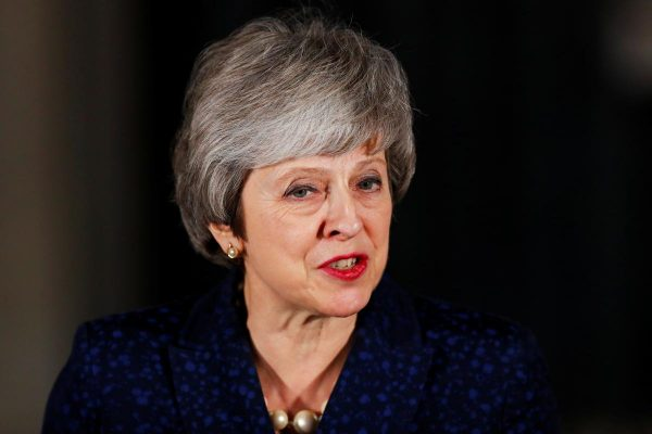 Britain's Prime Minister Theresa May speaks outside 10 Downing Street after a confidence vote by Conservative Party Members of Parliament (MPs), in London, Britain December 12, 2018. REUTERS/Eddie Keogh