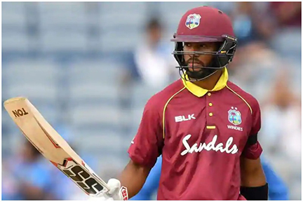 West Indies opener Shai Hope led an almost single-handed assault
