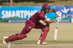 Opener Shai Hope top-scored for West Indies.