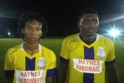 Winners Connection scorers Jevon Figueira (left) and Marley Davidson (right).