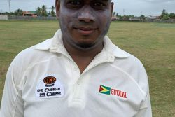 Krishna Deosarran scored the first century of this season's SPR 40 overs tournament