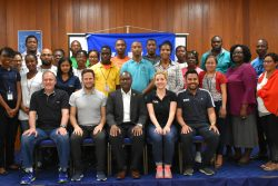 Participants in the GFF/FIFA facilitated medicine workshop pose for a photo following the conclusion of the seminar at the GOA headquarters.