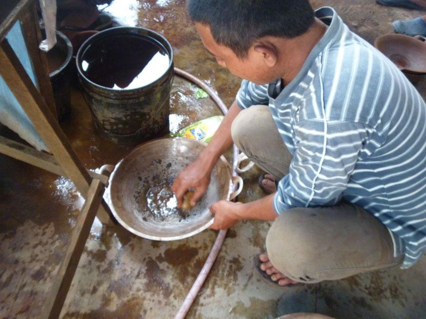 Mercury use in artisanal gold mining