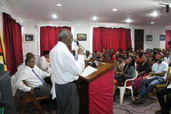 Senior Counsel Ralph Ramkarran addressing the forum