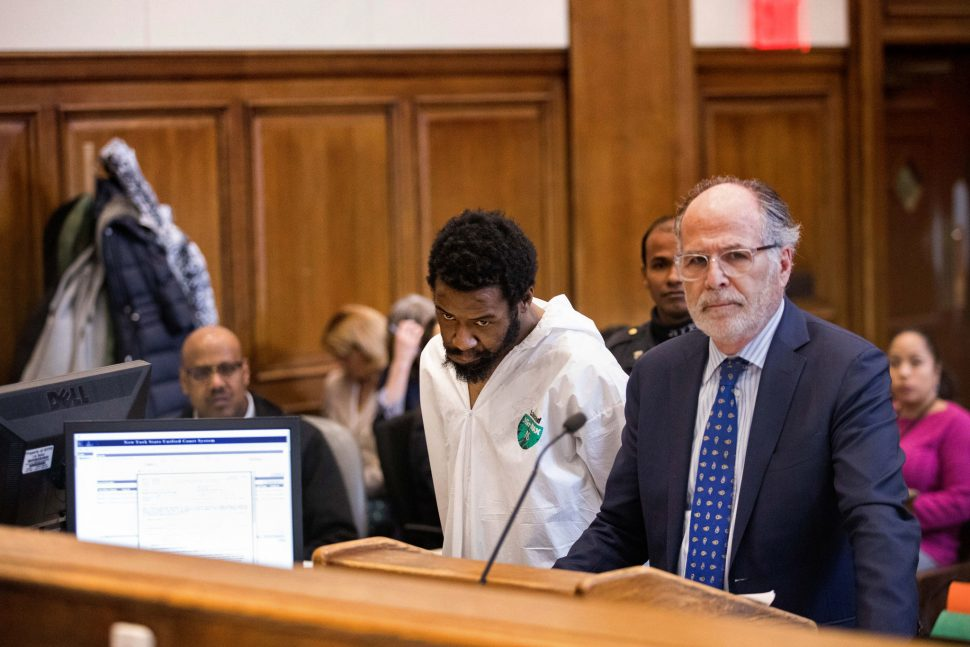 Mr. Reeves at his arraignment on Friday in Brooklyn Criminal Court.