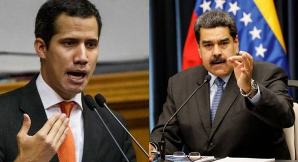 Congress chief Juan Guaido (left) and President Nicolas Maduro