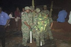 Soldiers from the Guyana Defence Force Special Forces waiting on word to embark on the rescue mission.