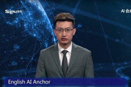 China's Xinhua News Agency unveiled news anchor Qiu Hao, a robot powered by artificial intelligence. Screenshot