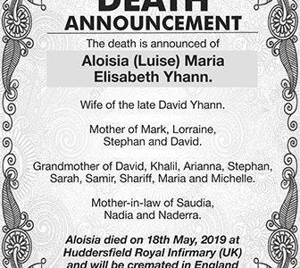 Aloisia Maria Elisabeth Yhann