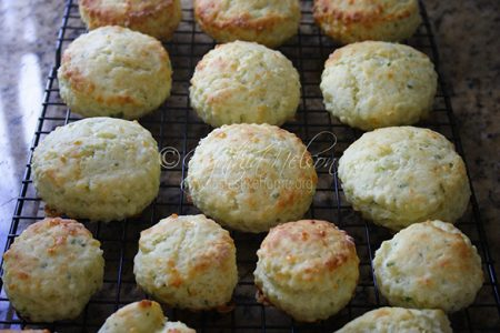 Cheddar-Scallion Biscuits (Photo by Cynthia Nelson)