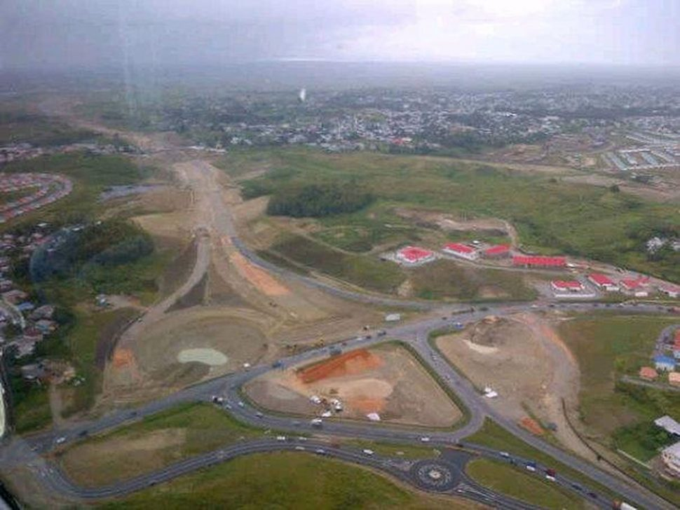 The extension of the highway from San Fernando to Point Fortin.