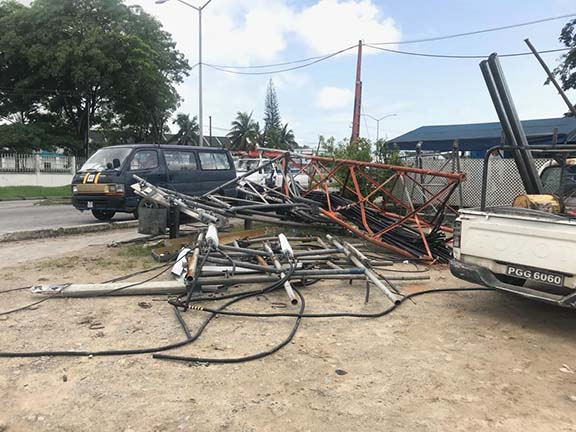 GTT Diamond cell tower collapses, mobile services affected