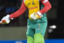Shimron Hetmyer wants to bring the CPL Trophy home to Guyana. (Photo courtesy of CPL)