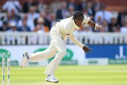 England's Jofra Archer was at his fiery best yesterday with one of his deliveries being clocked at 96.1 mph.